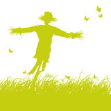Espantapájaros en el viento libre illustration