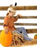 Espantapájaros feliz del otoño Fotos de archivo