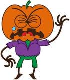 Espantapájaros lindo de Halloween que llora y que solloza ilustración del vector