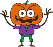 Espantapájaros travieso de Halloween que sonríe dañoso libre illustration