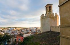 Espantaperros domine, dans la ville de Badajoz, Estrémadure Images libres de droits