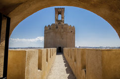 Espantaperros Tower under arch Royalty Free Stock Image