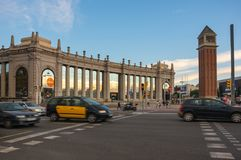 ` Espanya de Placa d à Barcelone Photos libres de droits