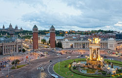 Espanya Square in Barcelona. Barcelona - the city second for the population in Spain, the capital of the autonomous Region of Catalonia Stock Images