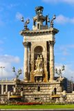 Espanya Square in Barcelona. And National Palace Royalty Free Stock Images