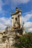 Espanya Square in Barcelona. And National Palace Stock Photography