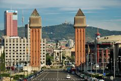 Espanya Square in Barcelona Stock Photos