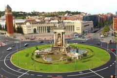 Espanya Square in Barcelona Stock Photos