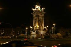Espanya Square in Barcelona - Spain. Espanya Square in Barcelona and National Palace Stock Photos