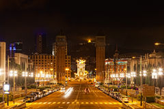 Espanya Square in Barcelona Stock Photo