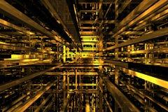 espaço 3D amarelo Fotos de Stock