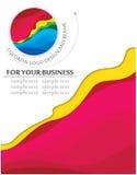 Espaço em branco do negócio com projeto do logotipo Imagem de Stock