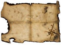Espaço em branco velho do mapa dos piratas para o projeto Fotos de Stock