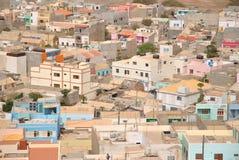 Espargos, capitale de sel d'île, Cabo Verde Image libre de droits