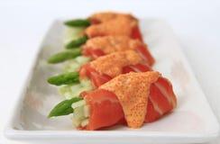 Espargos Salmon imagens de stock