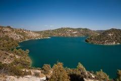 Esparron,法国湖  库存图片
