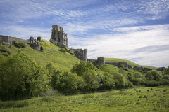 Espartilho do castelo de Corfe fotografia de stock