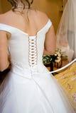 Espartilho do vestido de casamento Imagens de Stock