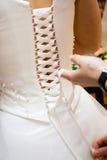 Espartilho do vestido de casamento Imagens de Stock Royalty Free