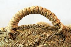 Esparto grass handcraft basket handle texture Royalty Free Stock Photos