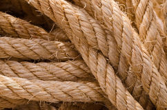 Esparto Rope. Close up of a rope of straw Royalty Free Stock Photography