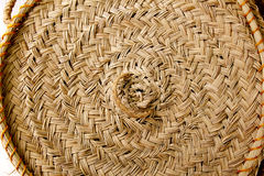 Esparto round handcraft basketry circle Spain. Tradition Stock Photography