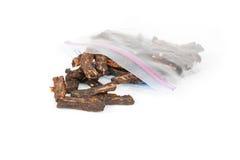 Espasmódico de carne com saco da represa Imagem de Stock Royalty Free