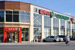 ESPATO do supermercado em St Petersburg, Rússia fotografia de stock royalty free