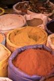 Especia de Berbere otras especias en un mercado en Etiopía foto de archivo libre de regalías