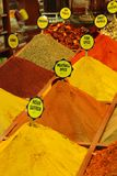 Especia en el bazar en Estambul fotos de archivo libres de regalías