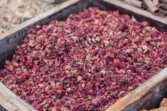 Especia seca en la especia Souk de Deira Dubai, UAE Imágenes de archivo libres de regalías
