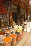 Especia y tienda de alimentos locales del turco Fotografía de archivo