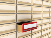 Especial card file. Card file with the red open box for your TEXT (can be used for printing and web Stock Photos