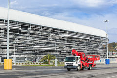Especial machinery maintenance in the Olympic park of Sochi Stock Photo
