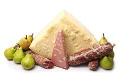 Especialidades italianas originais do alimento no fundo branco foto de stock royalty free