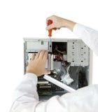 Especialista en computadoras imagen de archivo libre de regalías