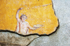 Especially deity of fresco house, in ancient Pompeii. Royalty Free Stock Image