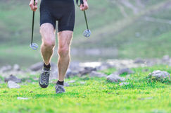 Especially on the legs of man running. On the lawns shoe Stock Images