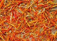 Especiaria do açafrão como o contexto Foto de Stock Royalty Free