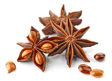 Especiaria e sementes do anis de estrela Fotografia de Stock Royalty Free