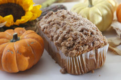 Especiaria Poundcake da abóbora Fotografia de Stock