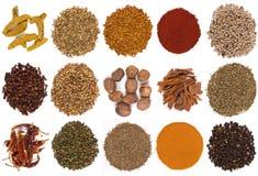 Especiarias - condimento - que cozinham - isoladas Fotos de Stock Royalty Free