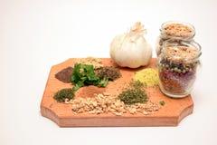 Especiarias da cozinha Fotografia de Stock