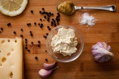 Especiarias da maionese do molho Fotografia de Stock