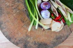 Especiarias de Tom Yum do alimento tailandês famoso fotos de stock royalty free