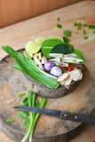 Especiarias de Tom Yum do alimento tailandês famoso foto de stock royalty free