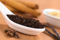 Especiarias do wih do chá preto foto de stock