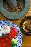 Especiarias e ingredientes fotos de stock
