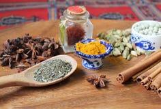 Especiarias exóticas Foto de Stock