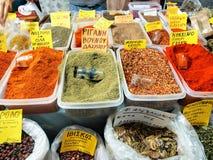 Especiarias gregas Foto de Stock